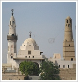 Abu Haggag Mosque, view from the eastern side, Luxor East Bank