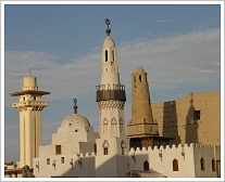 Abu Haggag Mosque, view from the western side, Luxor East Bank