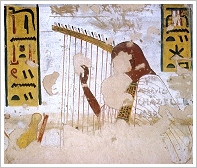 Tomb of Ramses III, right harpist