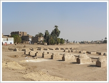 Main Avenue of the Sphinxes and Avenue leading to the Temple of Mut, Karnak, East Bank