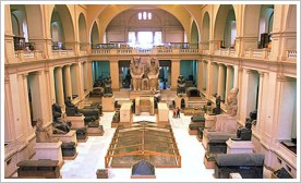Main hall of the Egyptian Museum in Cairo