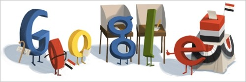 Google Egypt's Doodle on occasion of the Egyptian elections