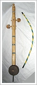 Rebab, traditional string instrument with bow