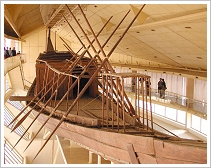 Reconstructed 1st solar boat of Khufu, Giza