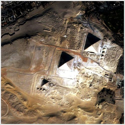 Satellite image of the Great Pyramids (c) EIAST