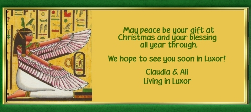 Merry Cristmas from Living in Luxor!