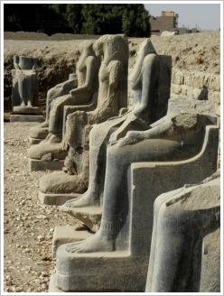 Seated Sekhmet statues at Mut Temple, Luxor East Bank